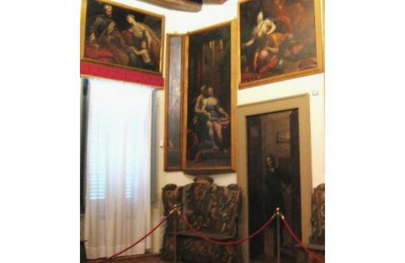 Ciclo pittorico di 14 tele raffiguranti episodi biblici e 6 Sibille angolari del pittore senigalliese Giovanni Anastasi (1653 - 1704) Particolare