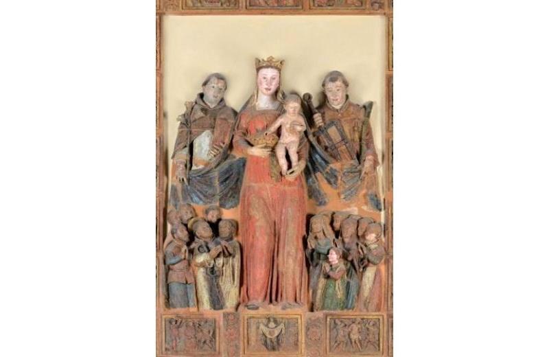 Della Robbia Madonna della Misericordia chiesa S. Lorenzo di Avacelli