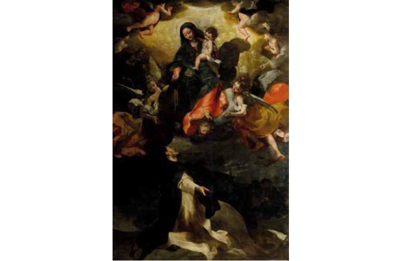 La Madonna del Rosario e San Domenico di Federico Barocci (1535-1612) Pinacoteca Diocesana Senigallia