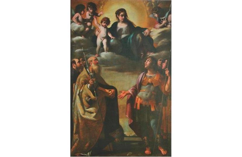Madonna col Bambino e i santi Silvestro papa e Maurizio Giovanni Baglione chiesa di Sany'Angelo di Senigallia