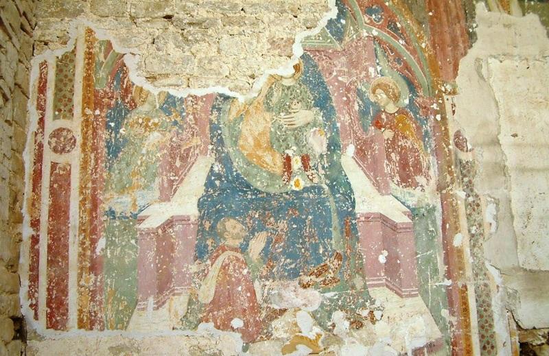 Madonna con bambino a Santa Maria della Piana a Castiglioni di Arcevia