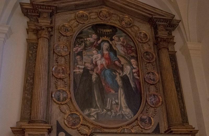 Madonna del Rosario di Ercole Ramazzani nella Chiesa di Sant'Agata di Castiglioni