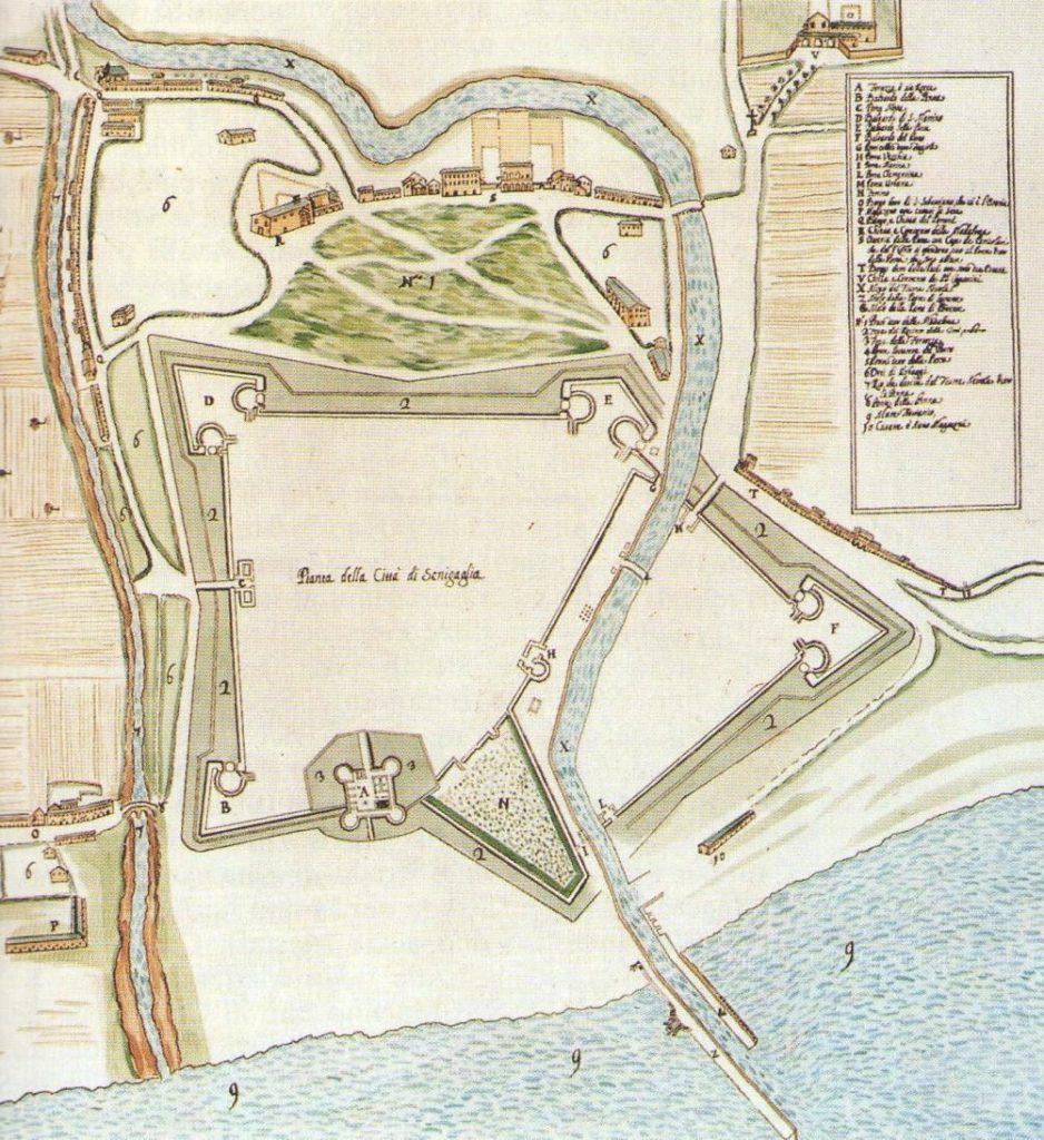 Mappa di Senigallia del 1732