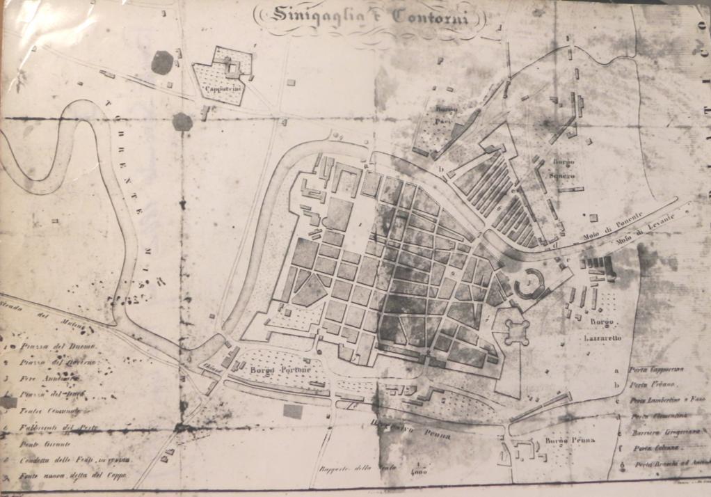 Mappa di Senigallia del 1842