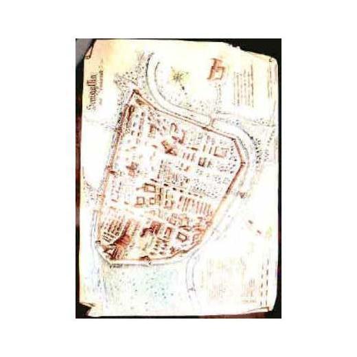 Mappa di Senigallia nel 1300