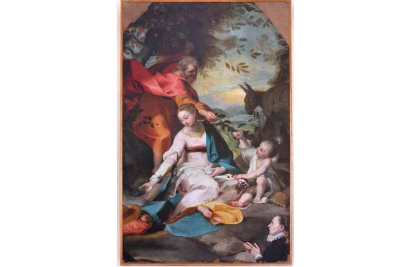 Riposo durante la fuga in Egitto della Sacra Famiglia Alessandro Vitali (1580-1630) Cattedrale di Senigallia