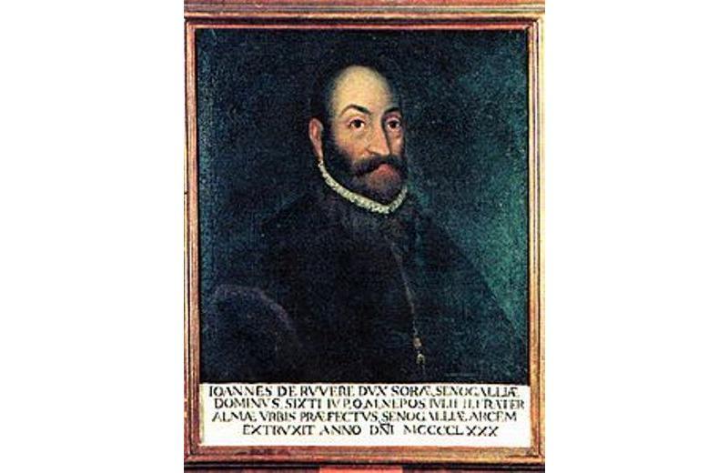 Ritratto di Giovanni Della Rovere conservato nella sala Giunta del comune di Senigallia