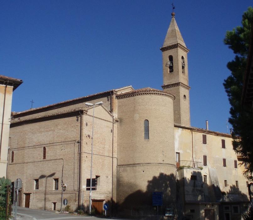 Chiesa parrocchiale SS Pietro e Paolo di Castelleone di Suasa - Abside e campanile
