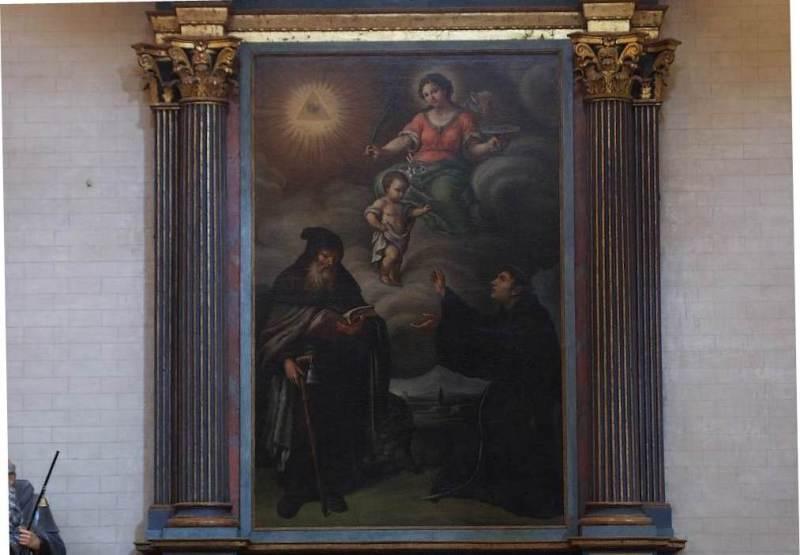 S. Lucia, S. Antonio Abate e S. Antonio da Padova (fine del XVI secolo), nell'Abbazia Santa Maria di Castagnola a Chiaravalle