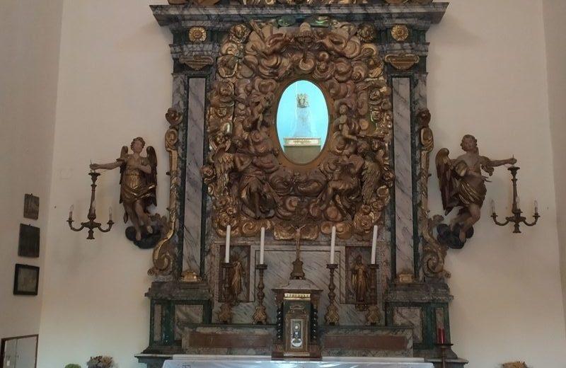 Macchina barocca del Santuario della Madonna delle Grotte a Mondolfo
