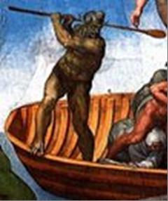 Caronte con le sembianze del Connestabile di Borbone di Michelangelo censurato