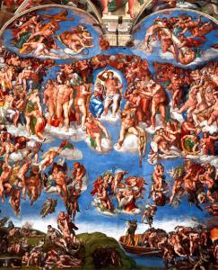 Giudizio Universale alla Cappella sistina di Michelangelo Buonarroti
