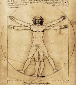 L'Uomo di Vitruvio, Leonardo da Vinci