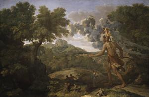 Orione in cerca del Sole Nascente, Poussin