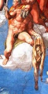 San Bartolomeo, Apostolo con le sembianze dell'Aretino di Michelangelo censurato