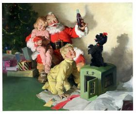Un Santa Claus della Coca-Cola