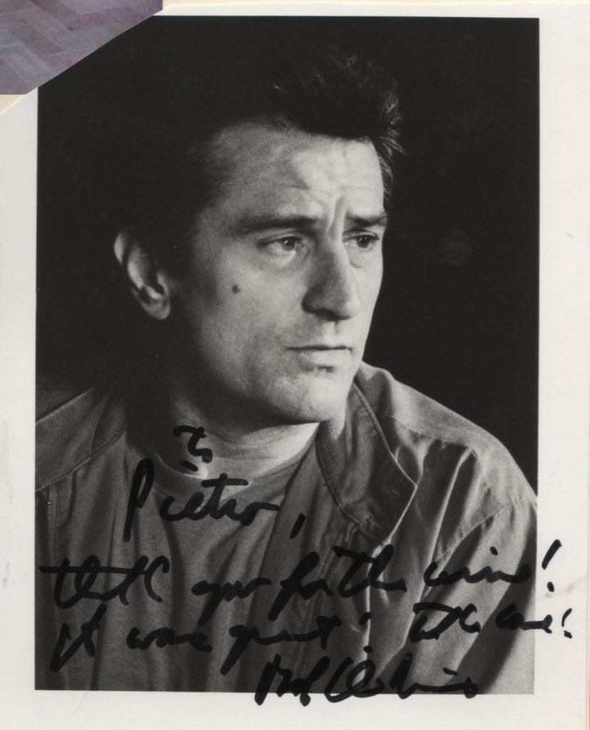 Robert De Niro ringrazia Pietro Molinari per l'ospitalità